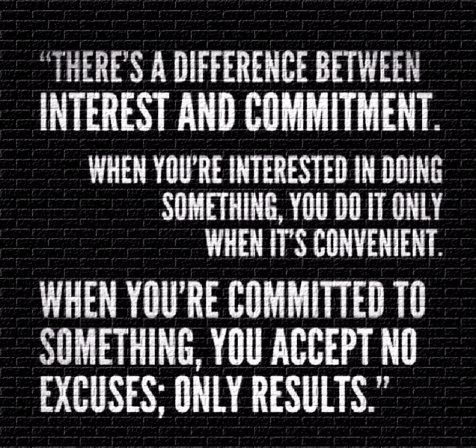 Quote: Interest vs. Commitment