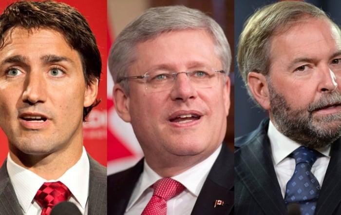 Trudeau Harper Mulcair