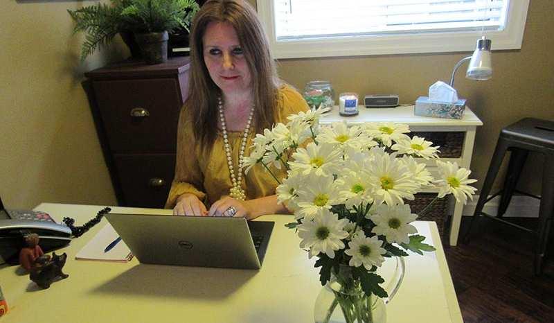 Catherine Thorburn at her desk